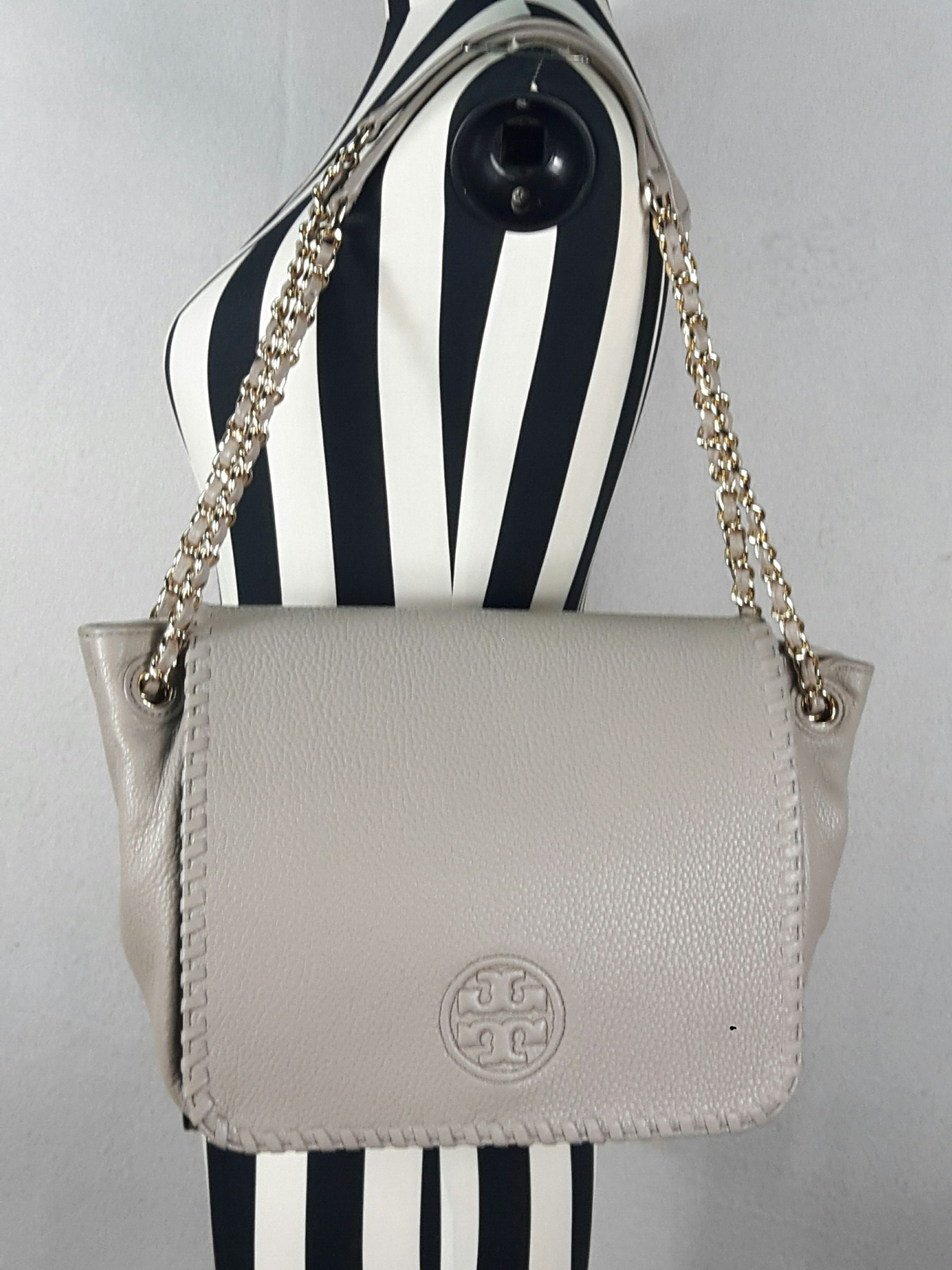 4764c95a492 Tory burch marion small flap shoulder bag French Grey